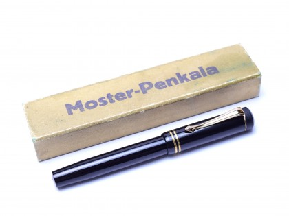 Rare 1930s MOSTER-PENKALA Berlin SW68 (No.930) Germany with Wet Fully Flexible EF 14K Nib Push Button Filling Fountain Pen