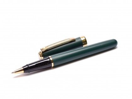 Vintage Sheaffer Prelude Dark Olive Green Rollerball Pen USA