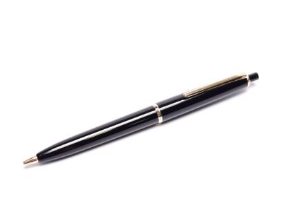 Vintage 1960s Montblanc Pix No. 36 1.18mm Lead Black Resin & Gold Push Button Repeater Mechanical Pencil