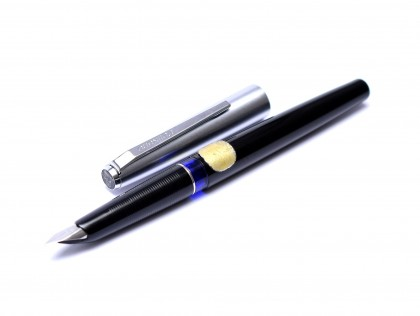 1969 3rd Gen Pelikan Pelikano Student Cartridge Filling Black & Steel Fountain Pen Extra Fine Steel Nib