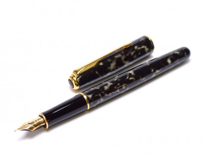 Rare 1993 Parker Sonnet Laque/Lacquer Moonbeam Marble 18K 750 F Flex Nib Fountain Pen Made in France w/ Converter