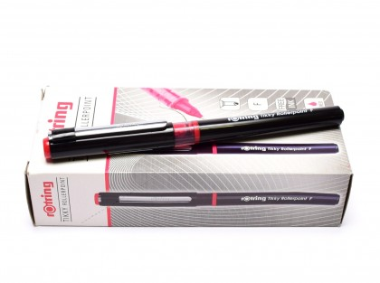 NEW Rotring Tikky Rollerpoint F Fine Point Tip Red Free Ink Fineliner Pen