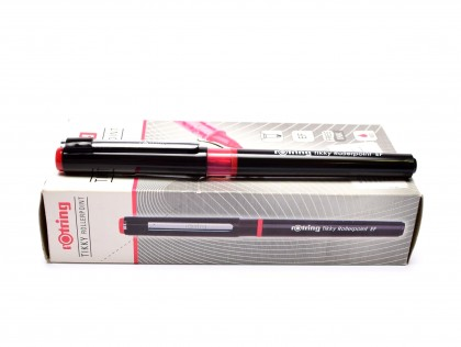 NEW Rotring Tikky Rollerpoint EF Extra Fine Point Tip Red Free Ink Fineliner Pen
