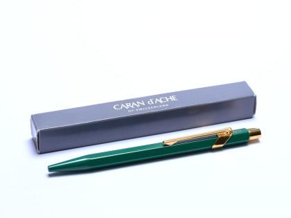 Lantern Green & Gold Hexagonal Caran d'Ache 858 ROLEX (Ecridor) Ballpoint Pen