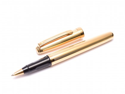 Sheaffer Prelude Fluted Guilloche Design 22K Gold Plated Rollerball Pen