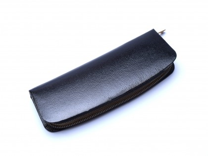 Vintage 60's Pelikan Original Genuine Leather Black Pouch Case for 2 Fountain or Ballpoint Pens