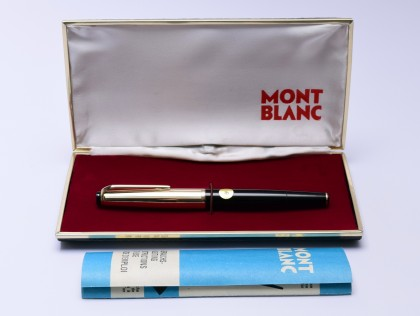 1960s NOS MONTBLANC 72 Masterpiece Meisterstuck Rolled Gold 18K EF Extra Fine Flex Nib Fountain Pen in Box