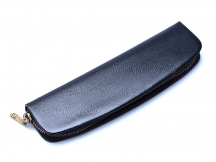 Vintage 60's Pelikan Depe Compact Genuine Leather Black Pouch Case for 2 Fountain or Ballpoint Pens