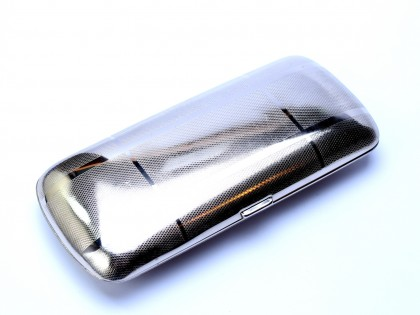 Vintage Art Deco Steel & Chrome Germany High Quality & Strength Eyeglasses Sunglasses Case Box