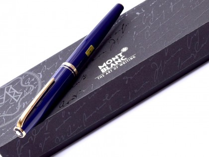 MONTBLANC Classic Generation Dark Violet Purple Blue Gold M Nib Fountain Pen