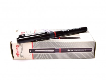 NEW Rotring Tikky Rollerpoint EF Extra Fine Point Tip Black Free Ink Fineliner Pen (
