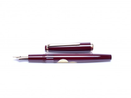 NOS Reform Germany 4328 Round Burgundy Bordeaux Maroon Red 14K Gold Super Flex EF to BB Nib Fountain Pen