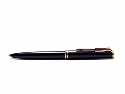"1970s MONTBLANC No.281 Precious Black Resin & Gold Lever Mechanism 11th ""Eleventh Finger"" Ballpoint Pen"