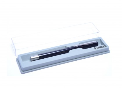 The Original 1984 NOS PARKER Vector Made in UK Classic Black & Matte Steel Rollerball Pen in Box