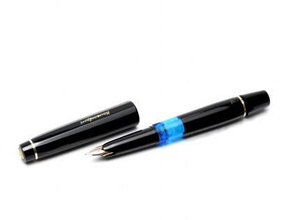 The Original 1960's True Pocket Size Black Resin KAWECO SPORT V16 EF 14K Gold Nib Fountain Pen