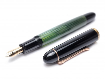 1956 Pelikan 140 Tortoise Green Gunther Wagner Flexible 14K Gold EF Fountain Pen