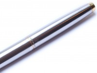 Parker 75 Flighter DeLuxe 96 Matte Brushed Stainless Steel Fountain Pen USA