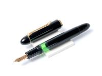 1955 Pelikan 140 All Black Fountain Pen 14K Gold Flexible Nib