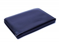 Rotring Vintage High Quality Genuine Black Leather Zipper Pouch Case for Rapidographs Pens or Pencils