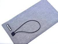 "UberPens Pen Case Holder Roll Up Pouch Wrap - Aluminum Grey Crypton Tweed Texture & 20 Elastic Loop Slots - ""Easy Hook"" Closure"