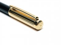 DIPLOMAT Germany 18K 750 Gold Nib Black Metallic Lacquer Fountain Pen