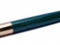 SHEAFFER'S FINELINE DIVISION GREEN AND GOLD 341 F FINE SEMI-FLEXIBLE NIB FOUNTAIN PEN