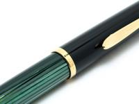 Original 1982 PELIKAN M400 400 Flexible F Fine 14K 585 Gold Tortoise Green Fountain Pen