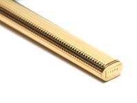 Les Must De CARTIER Vendome Crosshatch Cisele Trinity Ring 18K Gold Nib Fountain Pen