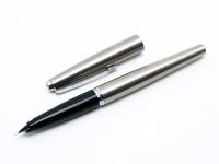PARKER 45 Flighter Steel Fountain Pen Pencil Set