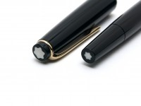 Rare 1960s MONTBLANC No.31 Black Resin EF Extra Fine 14K 585 Wing Nib Fountain Pen