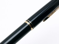 "1960s MONTBLANC No.28 Precious Black Resin & Gold Lever Mechanism 11th ""Eleventh Finger"" Ballpoint Pen"