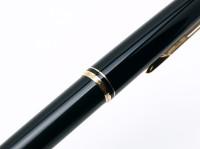 "1960s MONTBLANC No.28 Precious Black Resin & Gold Lever Mechanism 11th ""Eleventh Finger"" Ballpoint Pen"