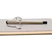 Original NOS 2006 PARKER VECTOR Flighter CT Made in UK Matt Brushed Stainless Steel Cartridge/Converter Fountain Pen F Fine Nib