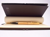 """1970s Waterman France (C/F) CONCORD Brushed """"Plaque OR G"""" Brushed Gold Plated 18K Gold Nib Fountain Pen"""