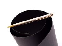 Vintage Sheaffer Targa 1005 Fluted 23K Gold Plated Twist Mechanism Ballpoint Pen USA