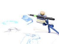 Original Never Used 1942-43-44 Pelikan 100N Celluloid & Ebonite All Black F to BB Super Flexible CN Nib Piston Fountain Pen From an Amazing Attic Find