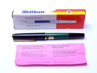 Pelikan MK10 Green & Black EF Nib Fountain Pen In Box