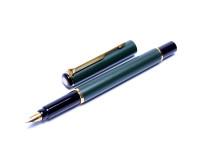 "NOS 1992 Parker ""88"" RIALTO Matte Dark Olive Green Gold F Nib Converter/Cartridge Fountain Pen Made in UK"