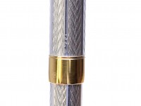 Parker Sonnet Fougere 925 Solid Sterling Silver & Gold Twist Ballpoint Pen Made in France