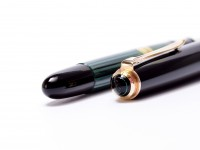 Pelikan 400NN 400 EEF Extra Extra Fine Nib Tortoise Green Striped Gunther Wagner Fountain Pen