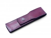 1950's MONTBLANC Dark BORDEAUX Burgundy Maroon Red Genuine Leather Pen Pouch Case Sleeve