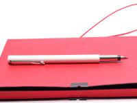 Original 2006 NOS in Box PARKER Vector Made in UK Classic White Cartridge Fountain Pen F Fine Nib
