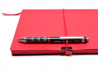 NOS New Rotring Tikky 3 in 1 Ballpoint Pen Pencil 0.5mm Lead Red & Black in Carton Box