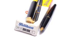NOS 1970s Pelikan MK10 Type I Airplane Safe Black Resin EF Extra Fine Nib Fountain Pen in Box