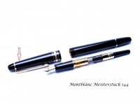 Montblanc Meisterstuck No.144 Fountain Pen Maroon Dark Red Cap Part Spare Repair