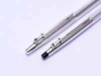 Caran d'Ache MADISON Alpaca German Silver Ballpoint Pen & Mechanical Pencil Set In Box