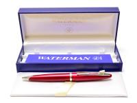 Waterman Carene/CARÈNE Matt Maroon Burgundy GARNET Red Palladium Plated Twist Ballpoint Pen in Box Made in France
