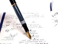 1997-2003 Vintage Pelikan M200 Black & Blue Marble M Medium GP Nib Piston Fountain Pen