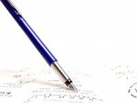 Original 2006 NOS in Box PARKER Vector Made in UK Classic Blue Purple Cartridge Fountain Pen F Fine Nib