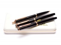 Reform No.1745 No.620 & No.966 F Fine Nib Fountain Ballpoint & Marker/Rollerball Pen Set in Box